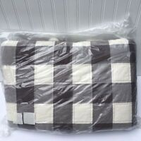 Pottery Barn Buffalo Check Full Queen Quilt Gray Free Ship