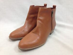 7a3f27c095dc9 Chaps Sabra Shoes Women 9 B Brown Ankle Booties Duel Side Zip Vegan ...