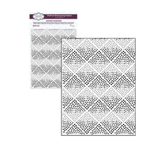 Graded Diamonds embossing folder EFPP-016 Creative Expressions folders