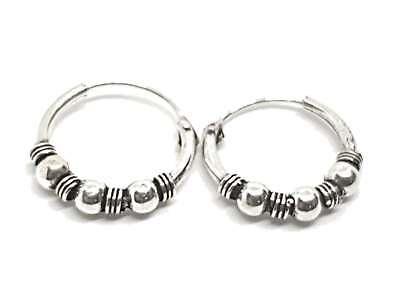 Earrings Silver Creole Style Bohemian Hoop Ethnic Hippy Rings Style 2 Boxed Durchblutung GläTten Und Schmerzen Stoppen