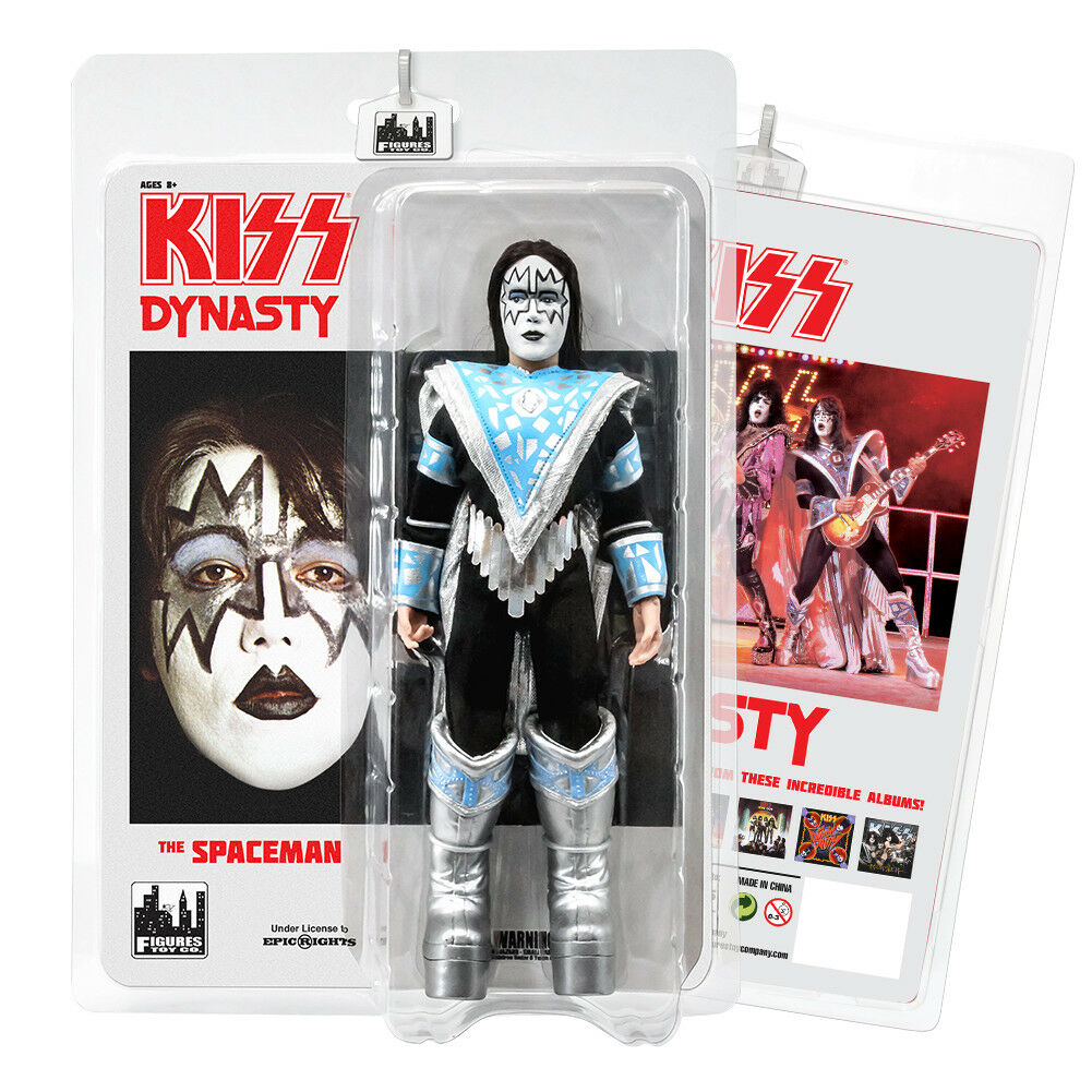 KISS 8 Inch Retro Style Action Figures Series Eight Dynasty  The Spaceman
