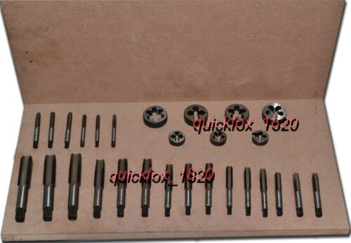 "BSB CEI 26 TPI TAP DIE SET 1//4/"",5//16/'3//8/"",7//16/"",1//2/"",5//8/"",3//4/"" HIGH CARBON STEEL"