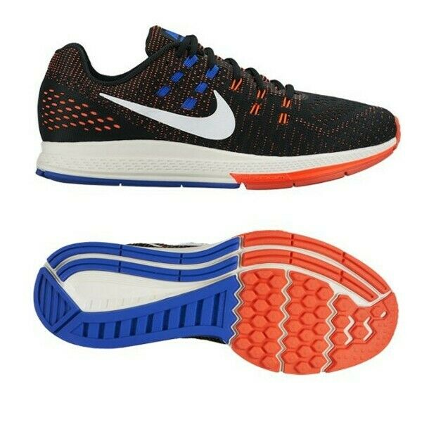 Nike señores Flywire Mesh zapatillas air zoom structure 19 negro fitness zapatos