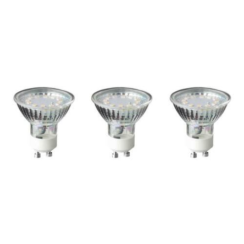 WOFI LED GU10 3W 250lm 3000K Leuchtmittel Glühlampe Strahler Reflektor 3er Set