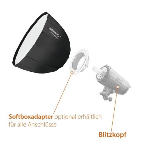 Walimex pro Studio Line Deep Rota Softbox QA90 mit Softboxadapter Elinchrom