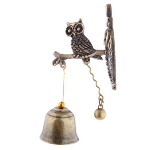 Image Is Loading Vintage Metal Owl Wind Chimes Windbell Indoor Outdoor