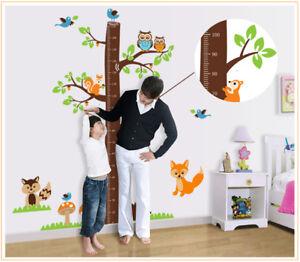 à Condition De Arbre Animal Hauteur Tableau Salle De Bains Chambre Wall Stickers, Wall Art-afficher Le Titre D'origine à Tout Prix