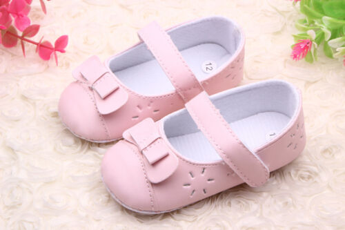 NEW Baby Girl Perforated Mary Janes Pink Shoes 3-18 months SZ 2.4.5