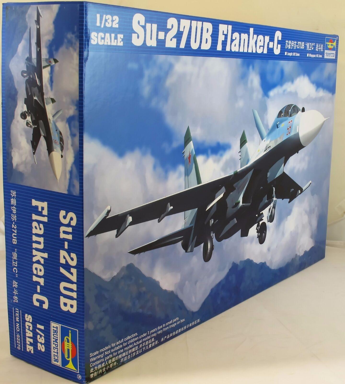 Trumpeter 1 32 02270 Sukhoi Su-27UB Flanker C Model Aircraft Kit
