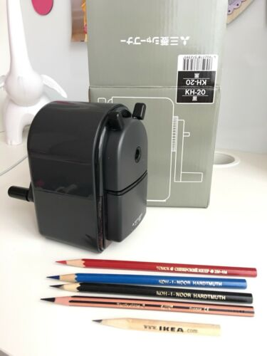 Mitsubishi Pencil Hand Crank Pencil Sharpener KH-20 Manual KH20.24 Black JAPAN