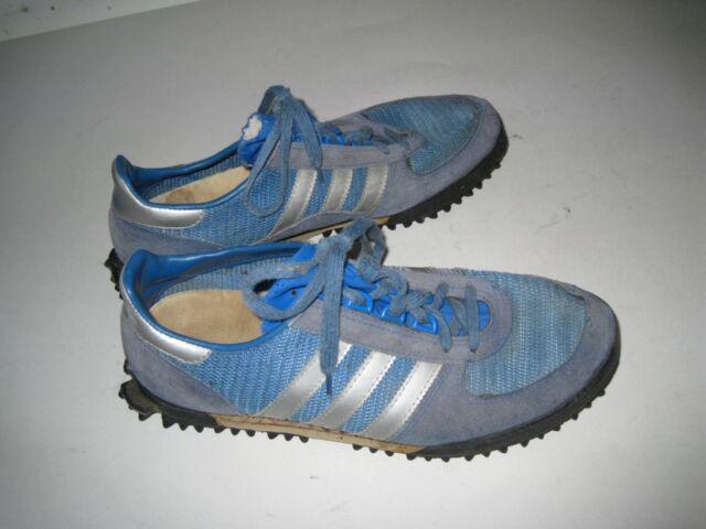 Vintage 1980s Adidas MARATHON TR Sneakers Blue Mesh Size 10.5-11
