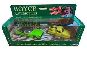 Only Fools and Horses Boyce Autos Corgi Capri & Trotter Van + SIGNED Booklet