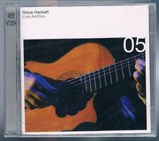 STEVE HACKETT LIVE ARCHIVE 05 (GENESIS) - 2  CD F.C. SIGILLATO!!!