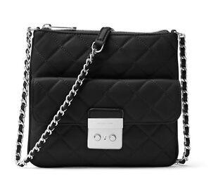 Details about MICHAEL Michael Kors Sloan Medium Swing Pack Bag BlackSilver NWT
