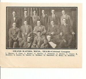 Image Is Loading Grand Rapids Furniture Makers Baseball 1911 Team Picture