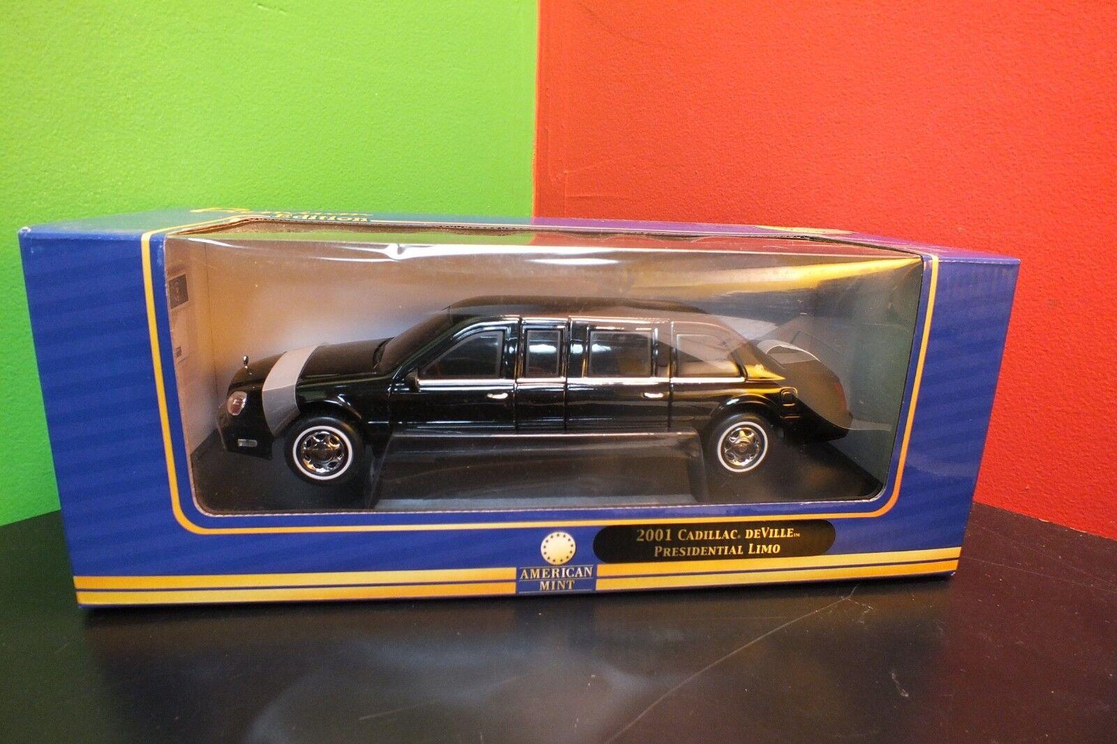 1 1 1 24 Scale 2001 Cadillac DeVille Presidential Limo Premium Edition American Mint 4c9711