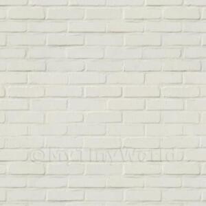 Image Is Loading Dolls House Miniature White Painted Brick Pattern Cladding