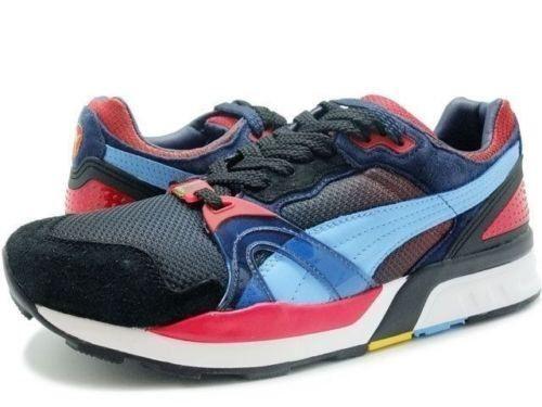 Puma Men's Trinomic XT2 Whiz Ltd Black Red Blue 35734102 Fashion Sneaker  Shoes