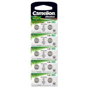 10x-Knopfzellen-AG3-LR41-SR41-392-736-Uhrenbatterie-Alkali-Mangan-von-Camelion