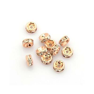5 10 Gr Metallperlen Spacer Zwischenperlen rosegold 2-5 mm Perlen Quetschperlen