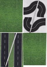 -10 SHEETS A4 20x28cm  ROADS EMBOSSED + CURVE HO 1/87 scale BLACK ASPHALT+ grass