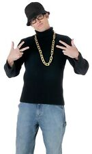 Quilted Jacket Rapper Hip Hop Black Top 80/'s Halloween Adult Costume Accessory