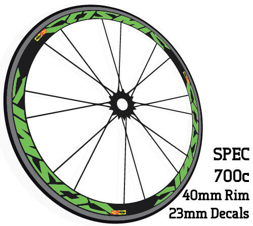COSMIC CXR 40C Wheel Rim Decals Stickers for 40mm carbon bicycle wheels