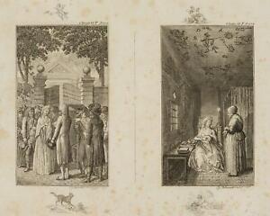 Chodowiecki (1726-1801). clarissens arresto & in prigione; pressione grafico 1
