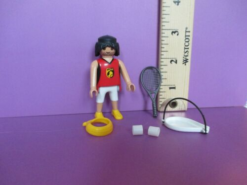 orig pkg PM #5598 Playmobil SERIES 9 MALE TENNIS PLAYER W// RACKET new figure