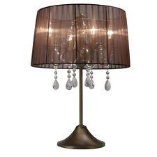 Lámpara De Taburete Cristal Transparente Mesa Regulable