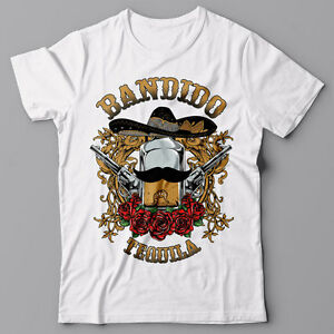 018cfc58295 Mens T-shirt graphic tee - BANDIDO TEQUILA drinking Mexican design ...