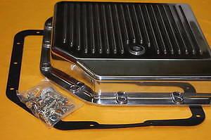 GM-Turbo-350-Polished-Aluminum-Transmission-Pan-Alum-Trans-TH350-Th-350