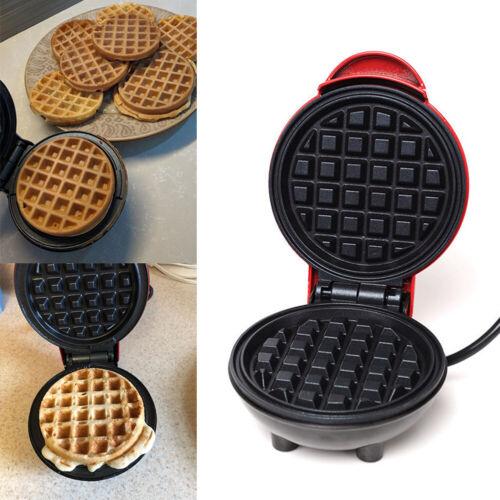 Mini Waffle Maker Machine Kitchen Supplies Non-Stick Baking Pancake Paninis UK
