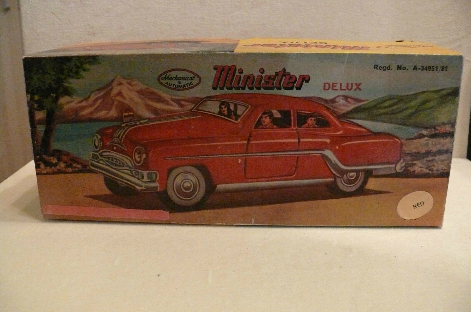 Minister Deluxe Tin Car ( Armar Toys, India)