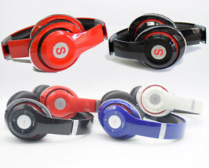 Auriculares audífonos estéreo Bluetooth Inalámbrico Plegable + Micrófono para iPhone...