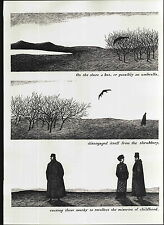 1979 EDWARD GOREY PRINT Poster A Bat From The Object Lesson