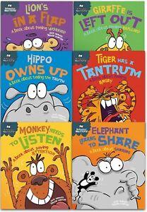Sue-Graves-Behaviour-Matters-Series-6-Books-Collection-Set-Elephant-Lion-Tiger