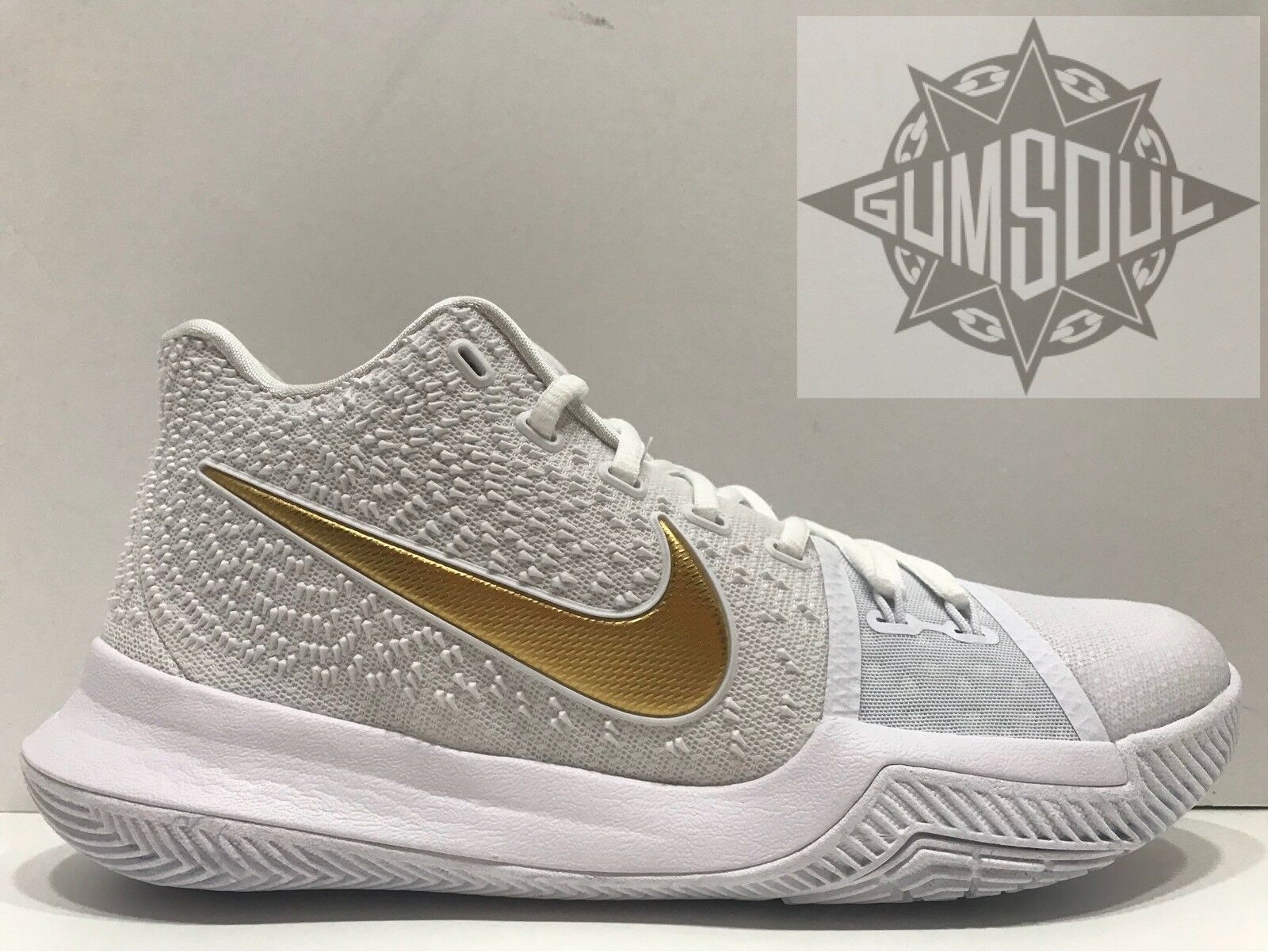 NIKE KYRIE 3 FINALS WHITE GOLD MULTI COLOR IRVING 852395 902 sz 9.5