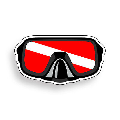 diving snorkel goggles window decal sticker USA Snorkeling Flag Decal Sticker