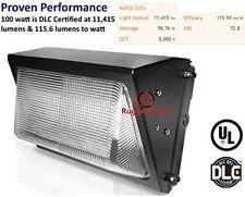 Ruggedgrade 80 100 Watt Led Wall Pack Light High Efficiency 120 Lumen To Watt