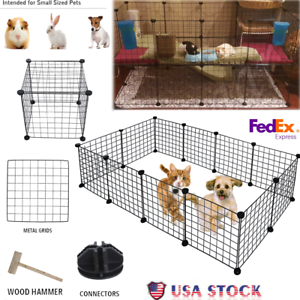 Metal-12-panels-Tall-Dog-Playpen-Crate-Fence-Pet-Kennel-Play-Pen-Exercise-Cage