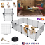 Metal-12-panels-Tall-Dog-Playpen-Crate-Fence-Pet-Kennel-Play-Pen-Exercise-Cage thumbnail 1