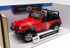 Coche-modelo-escala-1-18-Maisto-46629-Jeep-Wrangler-Rubicon-Rojo