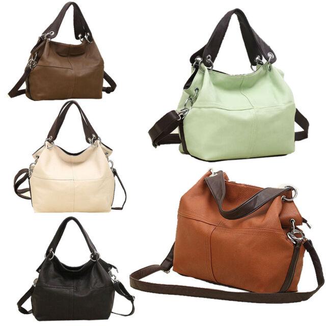 Retro Zipper Women Handbag PU Leather Hobo Shoulder Bag Casual Messenger Bags