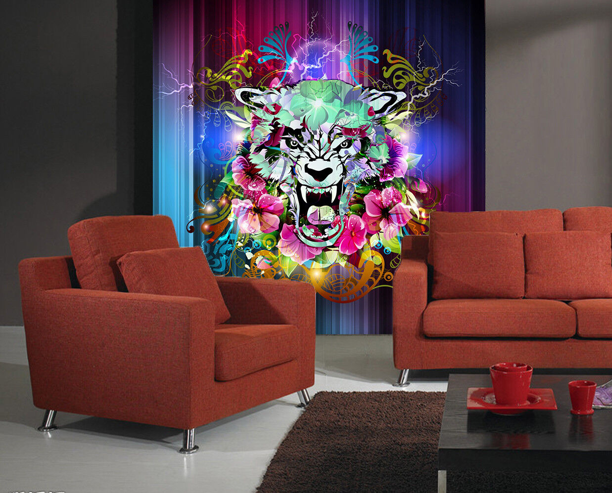 3D Abstract Tiger 86 Wall Paper Murals Wall Print Wall Wallpaper Mural AU Summer
