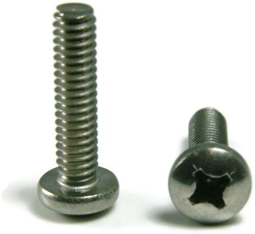 Stainless Steel Phillips Pan Head Machine Screw #4-40 x 5//16 Qty 1000