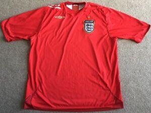 Umbro-Mens-Red-England-Away-Football-Shirt-Size-XXL