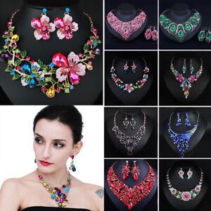 Fashion-Wedding-Caystal-Rhinestone-Choker-Bib-Necklace-Statement-Bridal-Jewelry