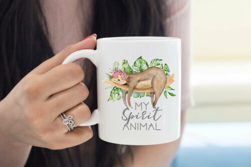 Hashtag Animal Love Sloth Cute Gift Silver Reusable Travel Mug