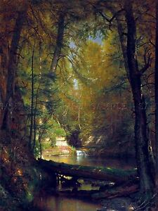 PAINTING-LANDSCAPE-WHITTREDGE-TROUT-POOL-LARGE-REPRODUCTION-POSTER-PRINT-PAM2125